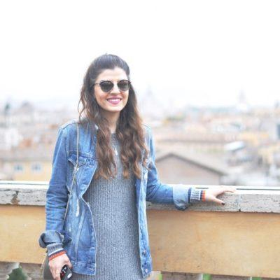 When in Rome: Midi Skirt, Denim Jacket & Dior So Real