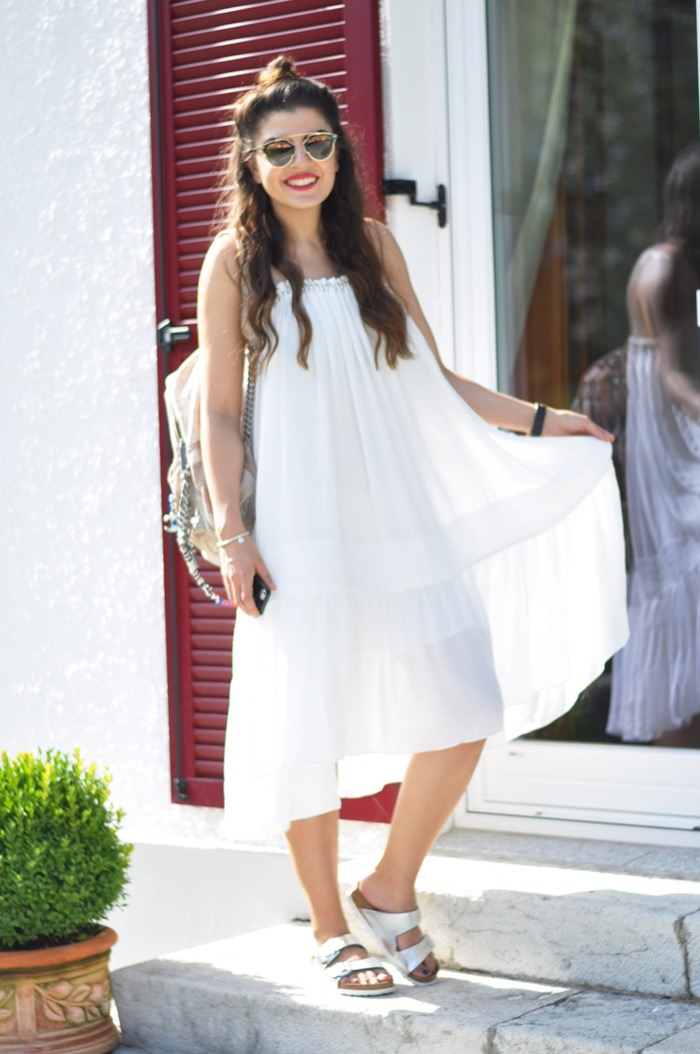 White Dress Birkenstock Sandals Amp Dior So Real Fashionnes