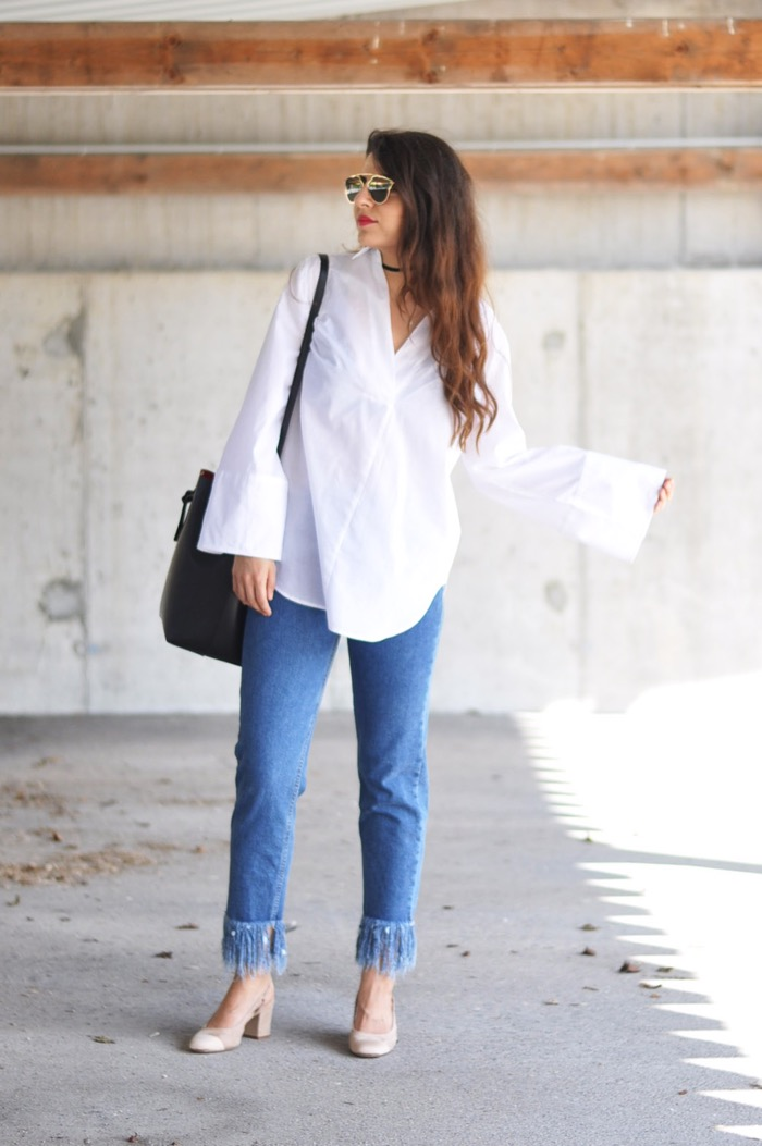 Fashionnes_Fringed_Jeans_Slingback_Pumps