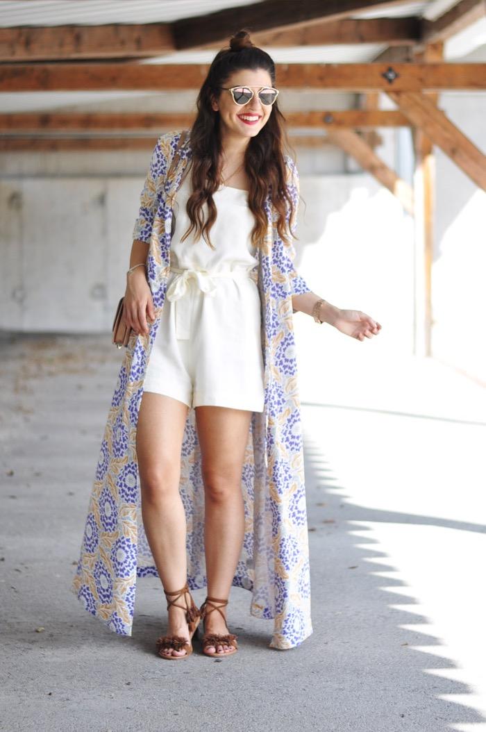 Fashionnes_PomPom_Sandals_Long_Kimono