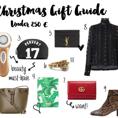 Christmas Gift Guide Under 250 €