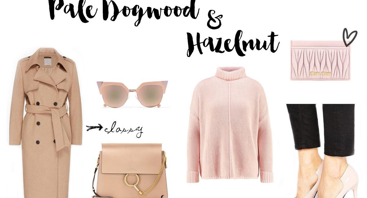 Pantone Fashion Colors 2017: Pale Dogwood & Hazelnut
