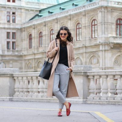 Gucci Jordaan Loafer, Pinstripe Trousers & the Vienna Opera