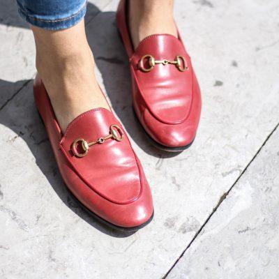 Burggarten: High Waisted Jeans & Gucci Jordaan Loafer