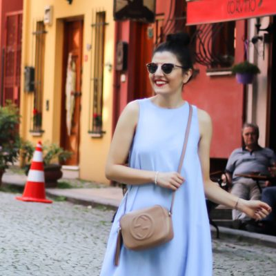 Istanbul Day III – Volant Dress & Gucci Disco Soho Bag