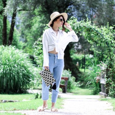 Into the Jungle – White Statement Blouse