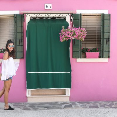 Burano – Colorful Island: Denim Shorts & Fendi Iridia