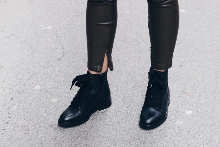 Khaki Leather Pants